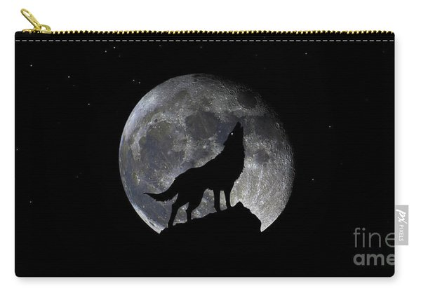 Pre Blood Red Wolf Supermoon Eclipse 873r Carry-all Pouch