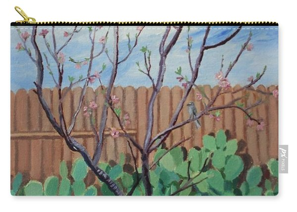 Blooming Peach In Our San Antonio Backyard Carry-all Pouch