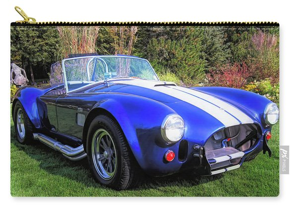 Blue 427 Shelby Cobra In The Garden Carry-all Pouch