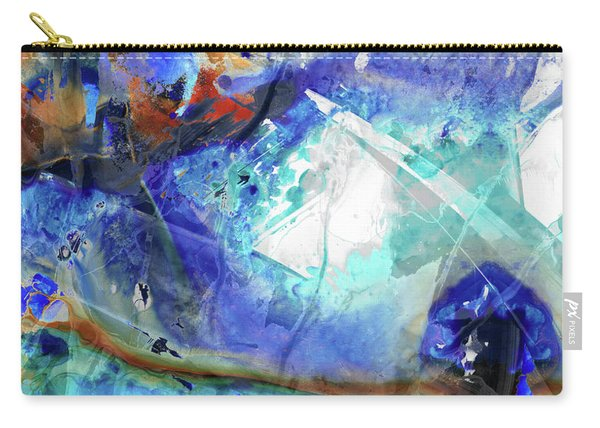 Blue Abstract Art - Storm Chaser - Sharon Cummings Carry-all Pouch