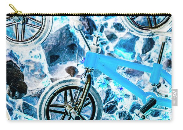 Blue Bike Background Carry-all Pouch