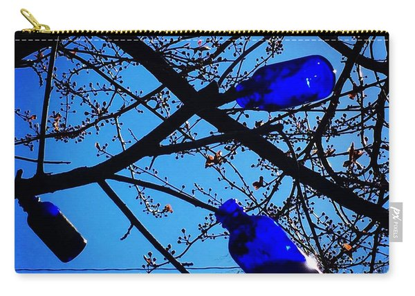Blue Bottles In Tree Carry-all Pouch