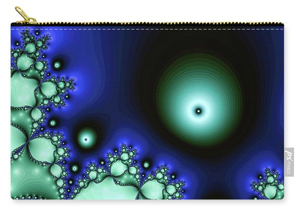Blue Glowing Bliss Abstract Carry-all Pouch