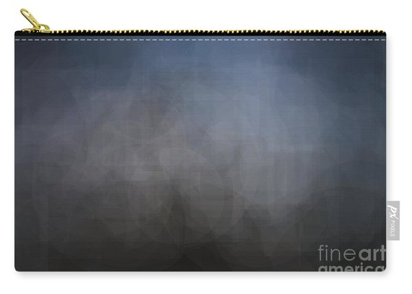 Blue Gray Abstract Background With Blurred Geometric Shapes. Carry-all Pouch