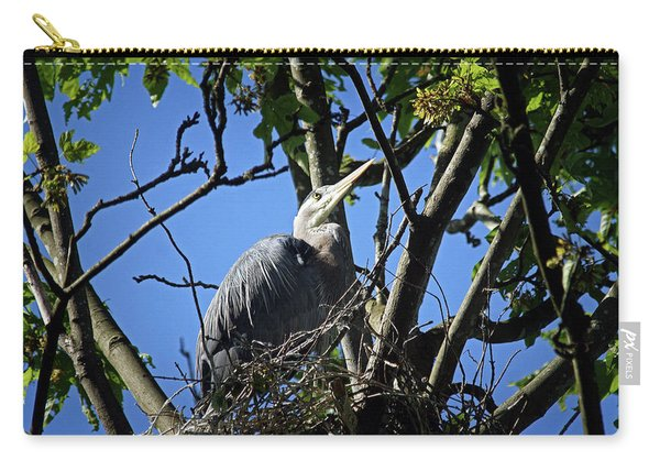 Blue Heron At Home Carry-all Pouch