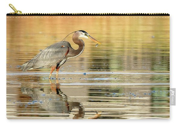 Blue Heron Fishing Carry-all Pouch