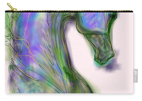 Blue Horse Painting Carry-all Pouch