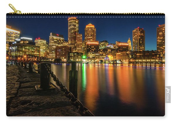 Blue Hour At Boston's Fan Pier Carry-all Pouch