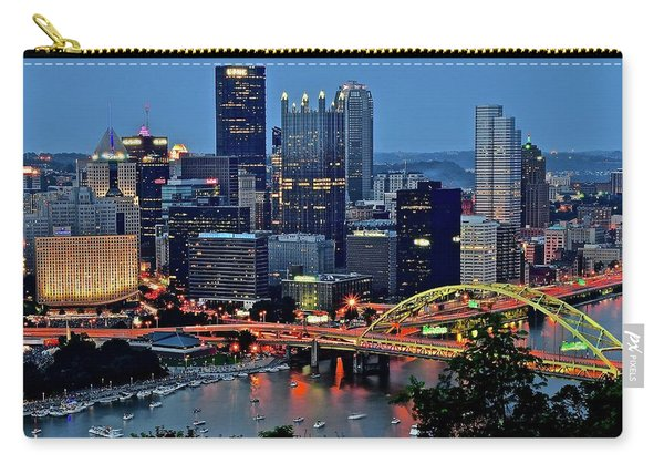 Blue Hour In Pittsburgh Carry-all Pouch