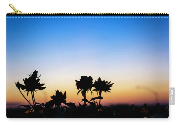 Blue Hour Sunset With Flowers Carry-all Pouch