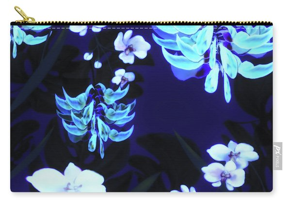 Blue Jungle Floral Carry-all Pouch