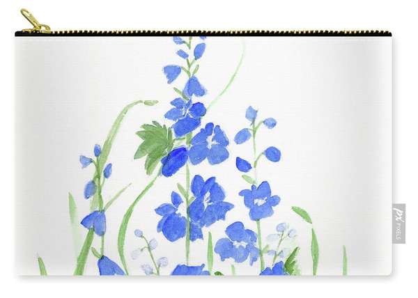 Blue Larkspur  Carry-all Pouch