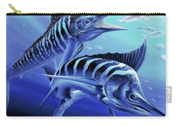 Blue Marlins Carry-all Pouch