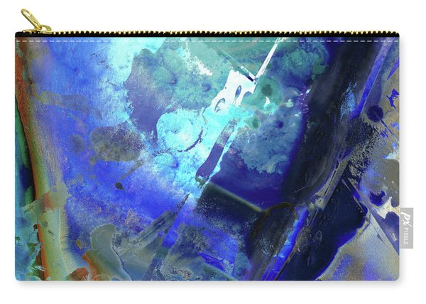 Blue Modern Abstract Art - After The Storm - Sharon Cummings Carry-all Pouch