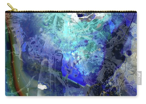 Blue Modern Abstract Art - Desires - Sharon Cummings Carry-all Pouch