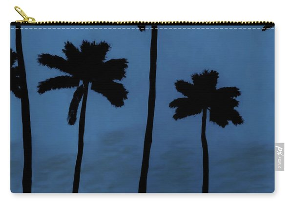 Blue - Night - Beach Carry-all Pouch