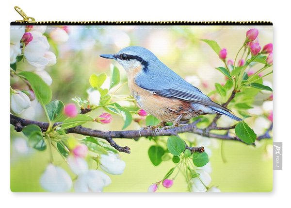 Blue Orange Bird Carry-all Pouch