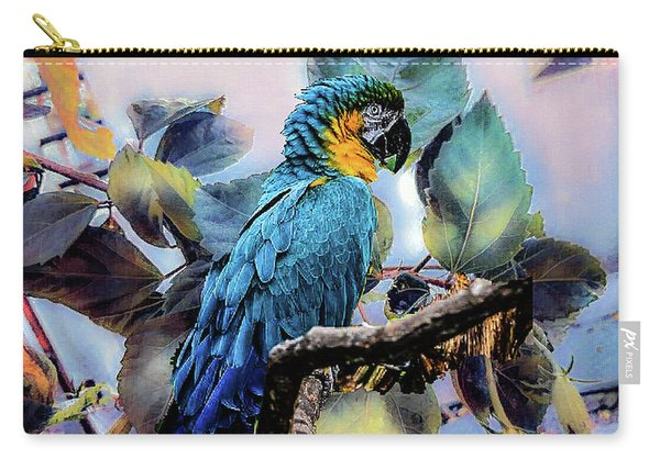 Blue Parrot Carry-all Pouch