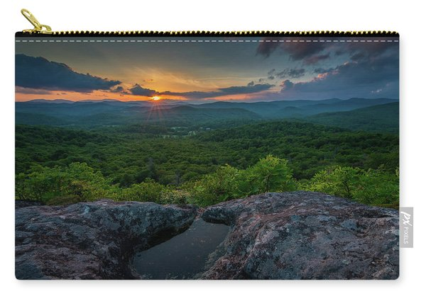 Blue Ridge Mountain Sunset Carry-all Pouch