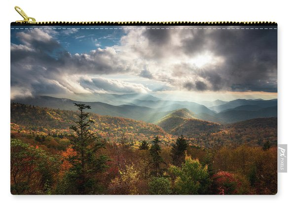 Blue Ridge Mountains Asheville Nc Scenic Autumn Landscape Photography Carry-all Pouch