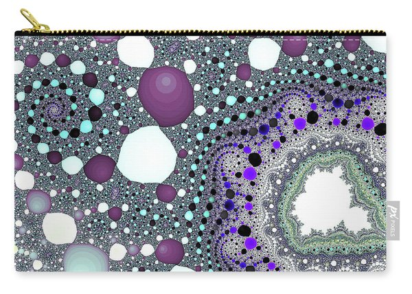 Carry-all Pouch featuring the digital art Blue Spiral Lake Fine Art by Don Northup