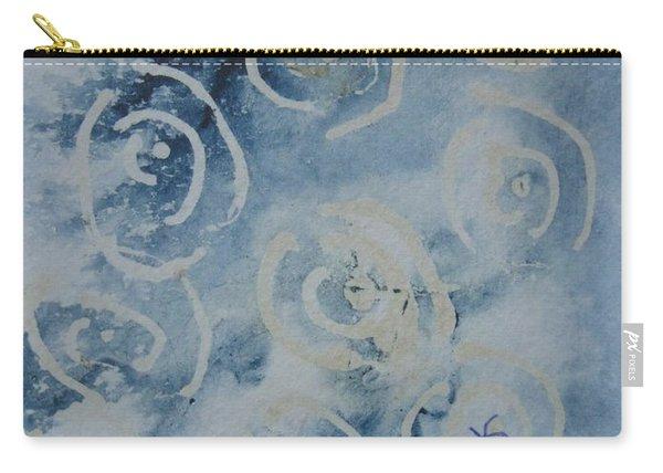 Blue Spirals Carry-all Pouch