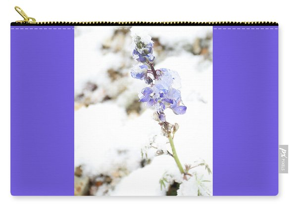 Carry-all Pouch featuring the photograph Blue Survivor by Jean Clark