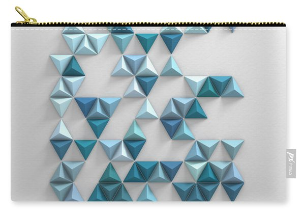 Blue Triangles Carry-all Pouch