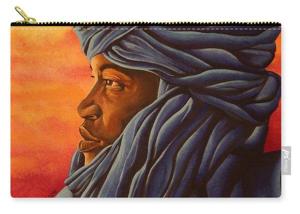 Blue Tuareg Carry-all Pouch
