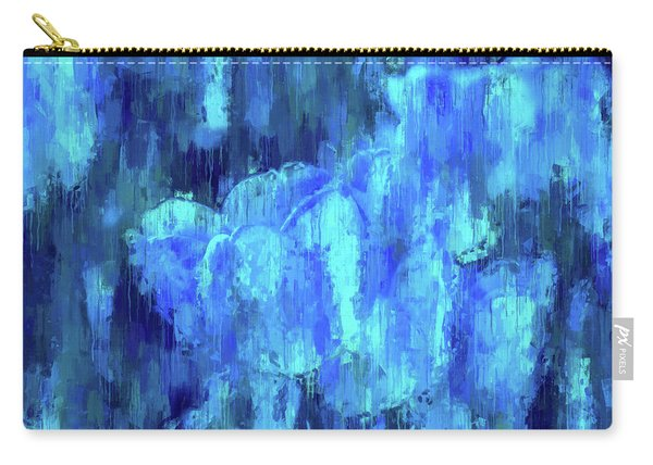 Blue Tulips On A Rainy Day Carry-all Pouch