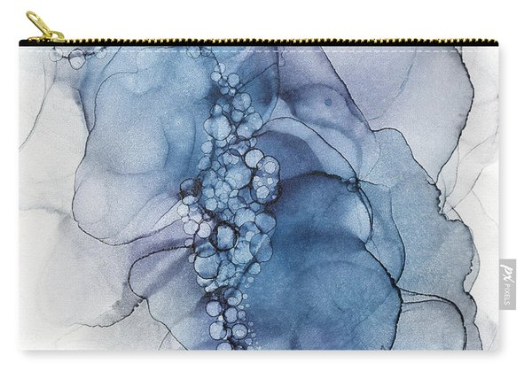 Blue Whispy 2 Abstract Painting Carry-all Pouch