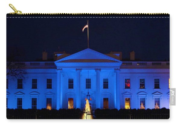 Blue White House Carry-all Pouch