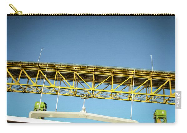 Carry-all Pouch featuring the photograph Blue, Yellow And Green by Juan Contreras