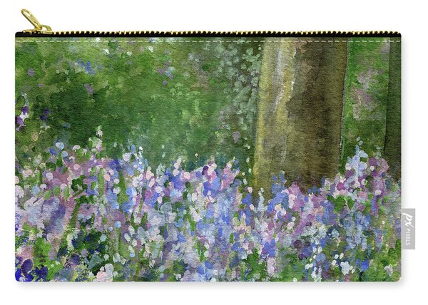 Bluebells Under The Trees Carry-all Pouch