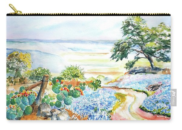 Bluebonnets - Texas Hill Country In Spring Carry-all Pouch