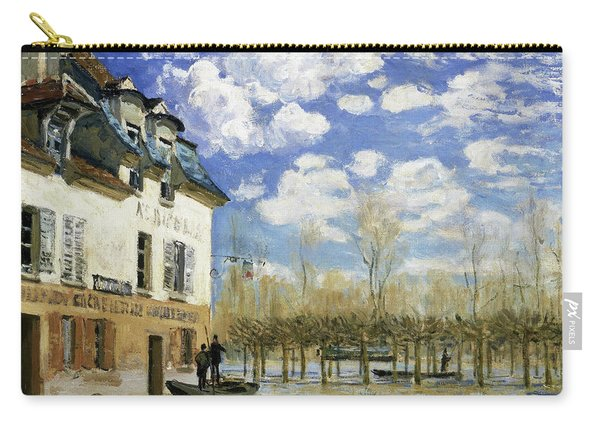 Boat In The Flood At Port Marly - Digital Remastered Edition Carry-all Pouch