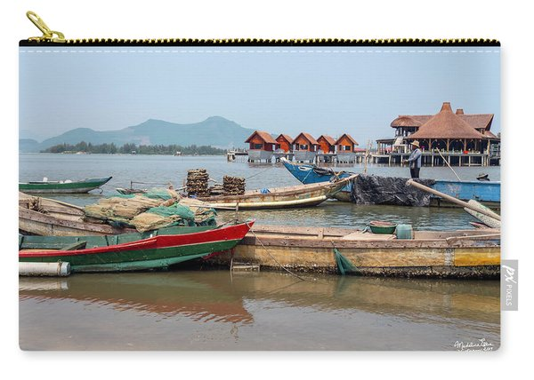 Boats In Lang Co - Hue, Vietnam Carry-all Pouch