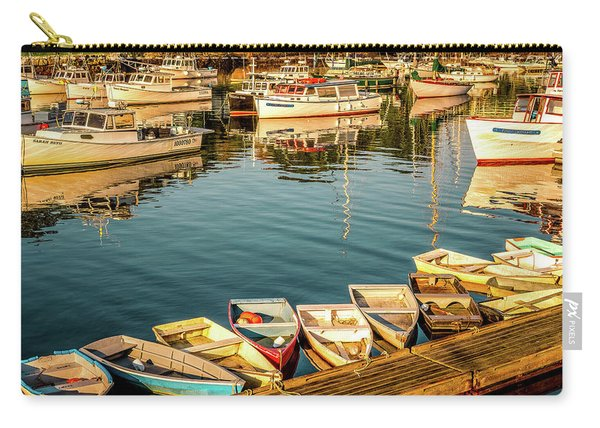 Carry-all Pouch featuring the photograph Boats In The Cove. Perkins Cove, Maine by Jeff Sinon
