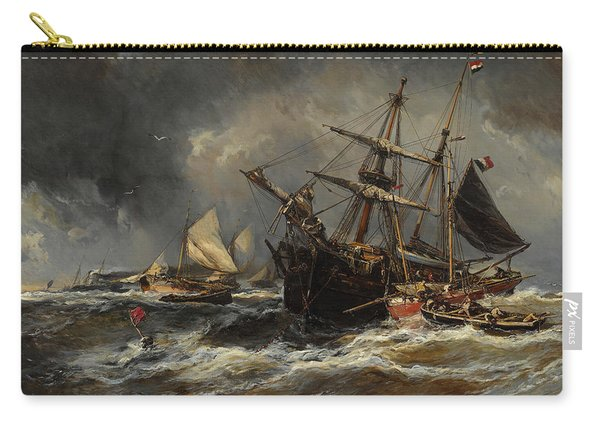 Boats In The Storm Carry-all Pouch