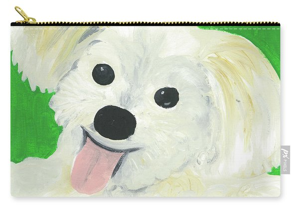 Carry-all Pouch featuring the painting Bobby by Suzy Mandel-Canter