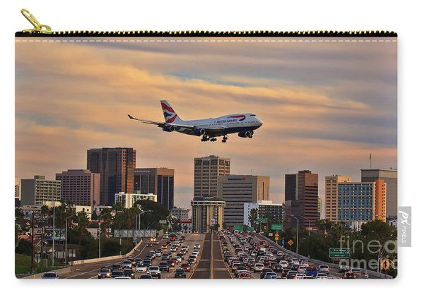 Boeing 747 Landing In San Diego Carry-all Pouch