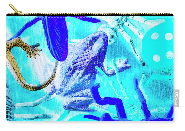 Bohemian Blue Carry-all Pouch