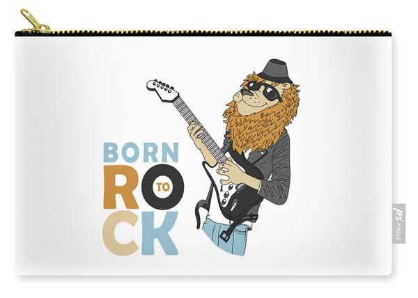 Born To Rock - Baby Room Nursery Art Poster Print Carry-all Pouch