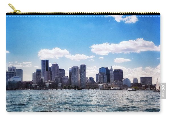 Boston Skyline From Boston Harbor  Carry-all Pouch
