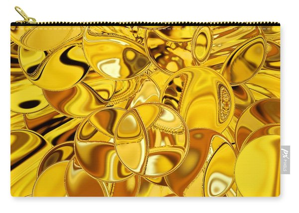 Carry-all Pouch featuring the digital art Boules D Or by A zakaria Mami
