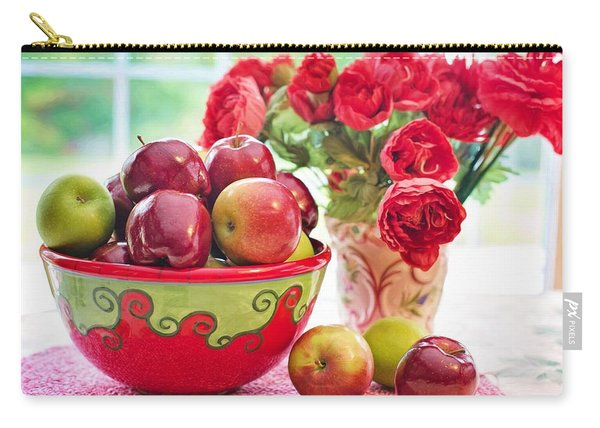 Bowl Of Red Apples Carry-all Pouch
