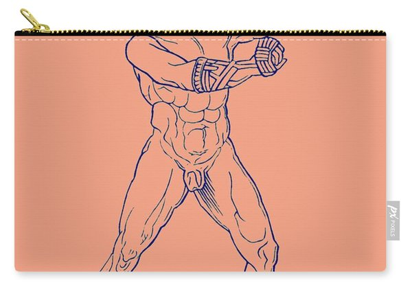 Boxer, Illustration For Olympia By Adolf Boetticher, 1886 Carry-all Pouch