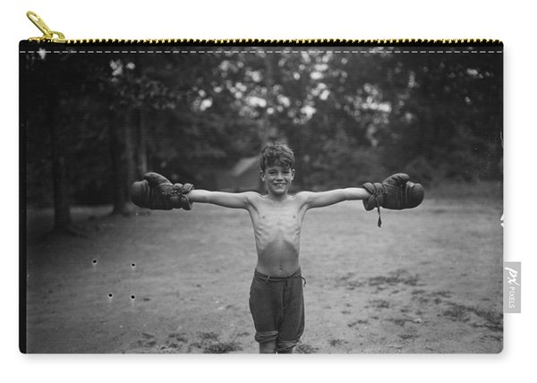Boy With Boxing Gloves C 1926 By Harris And  Ewing Carry-all Pouch