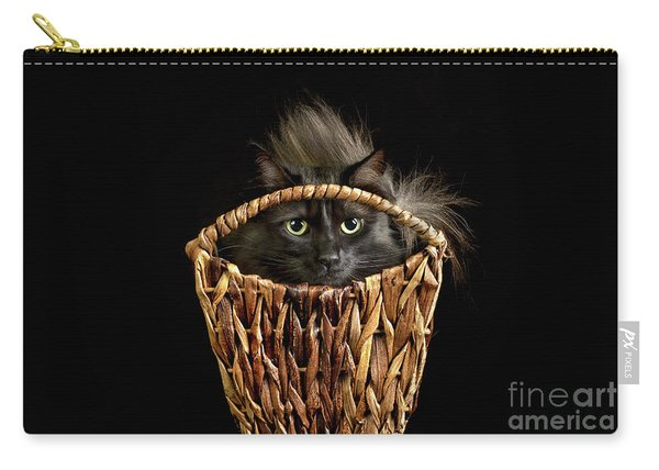 Carry-all Pouch featuring the photograph Boyfriend In A Basket by Susan Warren
