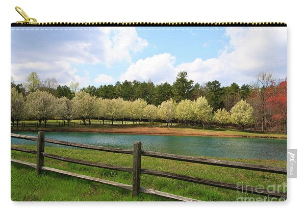 Bradford Pear Trees Blooming Carry-all Pouch